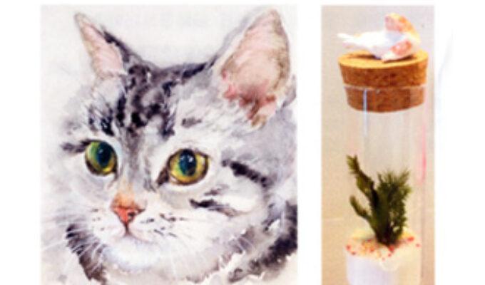 猫と犬とコケリウム作品展
